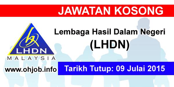 Jawatan Kerja Kosong Lembaga Hasil Dalam Negeri Malaysia (LHDN) logo www.ohjob.info julai 2015