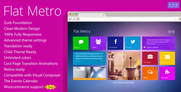 Flat Metro - Responsive WordPress Theme
