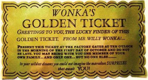 Editable Golden Ticket Template - Calendar