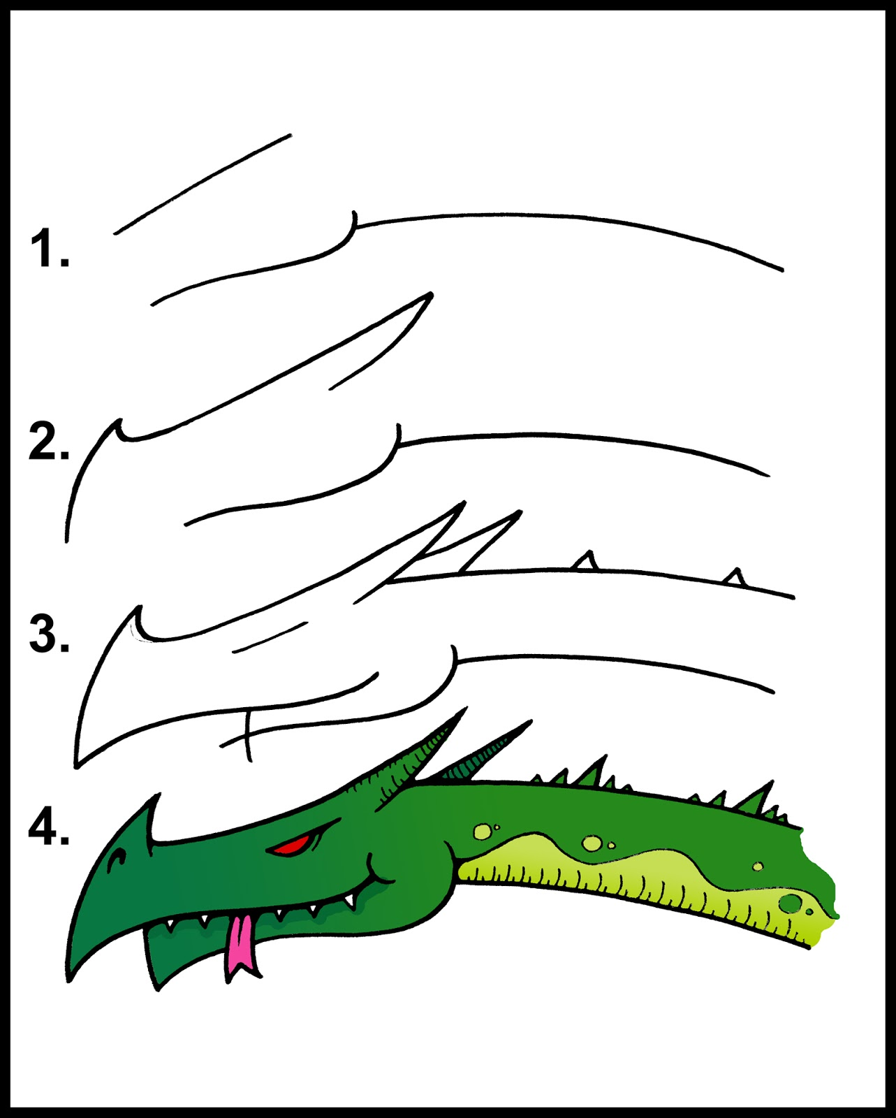 How To Draw A Dragon Step By Step Easy DARYL HOBSON ARTWORK: ...