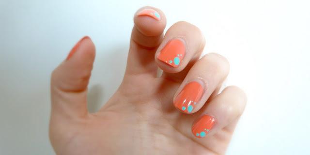 nail art corail