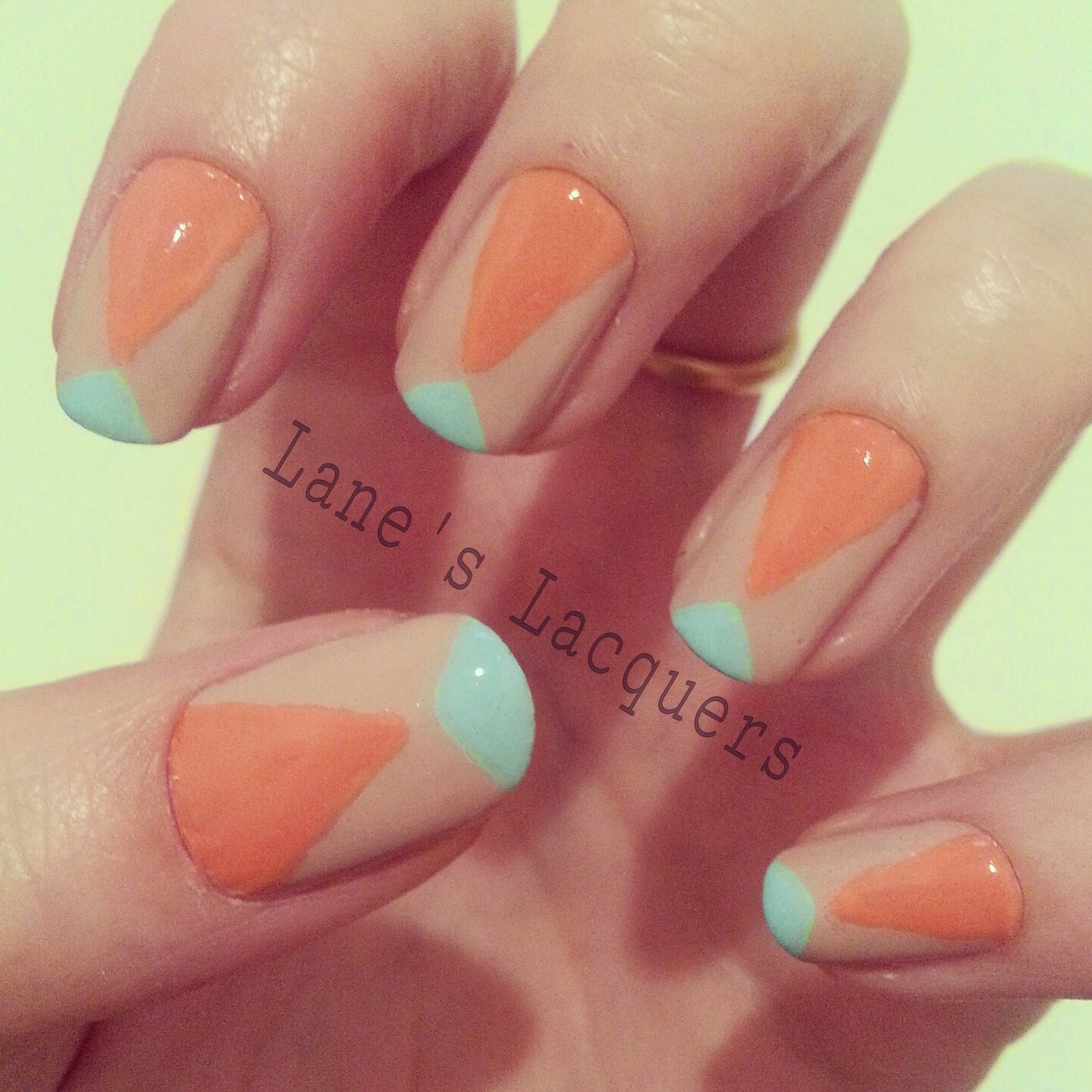 TPC-nude-coral-turquoise-nail-art