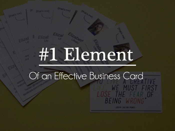 #1 top element of an effective business card