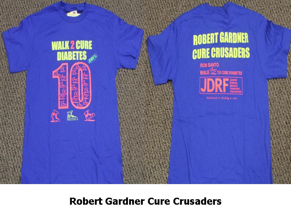 Jdrf Ron Santo Walk To Cure Diabetes Busse Woods T Shirt