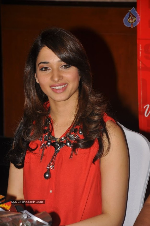 Tamanna in Orange Top -  Beautiful Tamanna in Orange Top at 93.7 Red FM