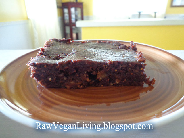 raw vegan brownie