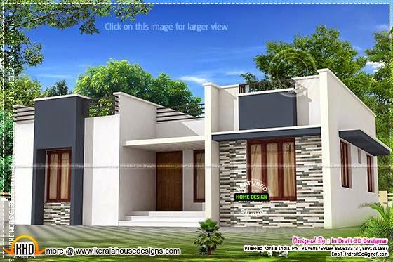 Trendy single floor home