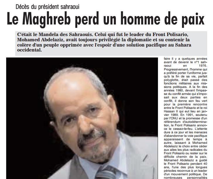Le Maghreb perd un homme de paix