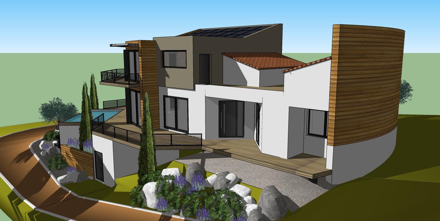 La maison bois du golf enfin propri taire et for Projet maison 3d