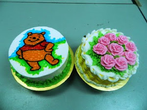 Kelas DIY Deco Buttercream -RM370  2 jenis [ Cartoon artwork & roses buttercream]