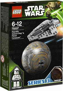 75007 Republic Assault Ship & Planet Coruscant (Series 3)
