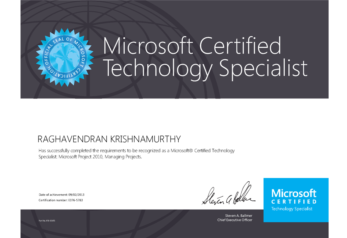 Content Elearning Project Certification Microsoft Project