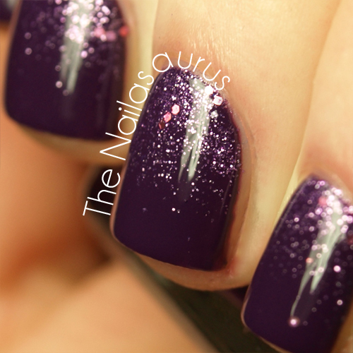 Snippet: Purple Glitter Gradient