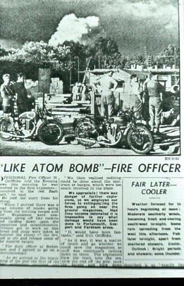 Newspaper article about Bedenham explosion