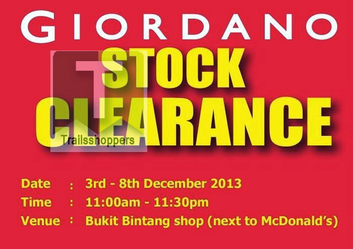 Giordano Stock Clearance Sale 2013