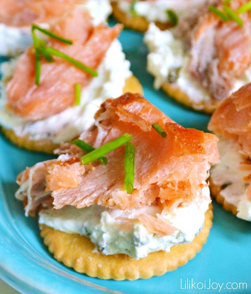 Smoked Salmon Canapé #appetizer