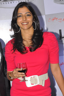 Telugu Actress Nishanthi Evani Spicy Legs Show in Red Dress at an Event