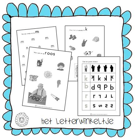 Kleuterjuf in een kleuterklas: Werkbladen | HET LETTERWINKELTJE: www.kleuterjufineenkleuterklas.nl/2014/02/werkbladen-het...