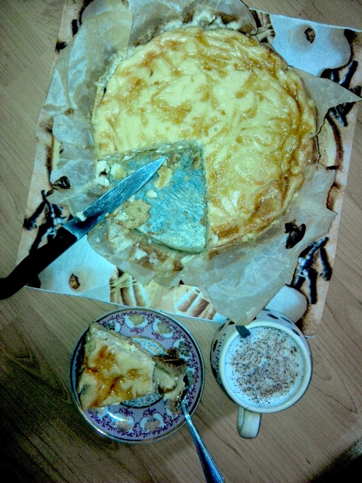 Broskyňový cheesecake