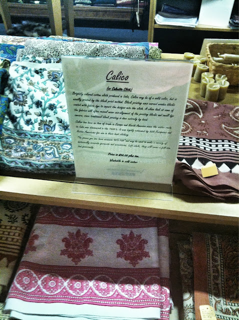 Calico in a gift shop