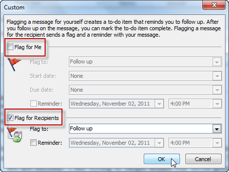 Making Outlook Work For You: Outlook Follow Up Flags