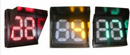 Đèn tín hiệu giao thông đếm ngược 3 màu xanh đỏ vàng 350