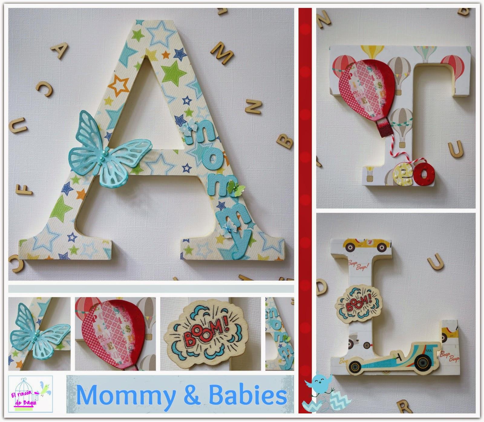 Letras decoradas mam y sus patitos el rincon de baqui blog de manualidades scrapbooking - Letras grandes decoradas ...