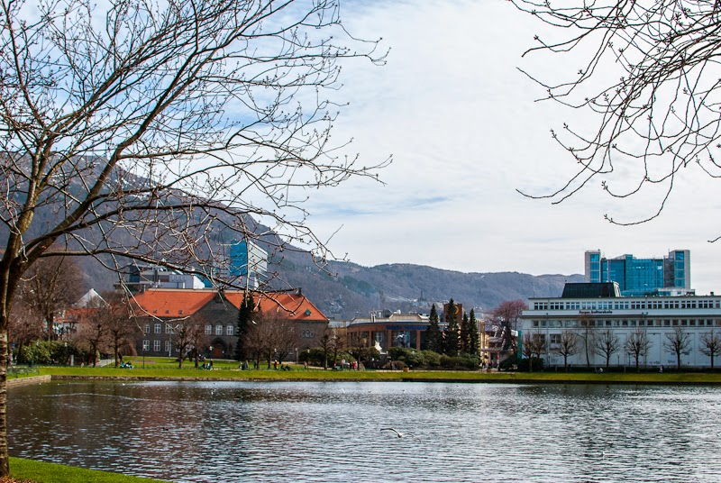 Park in the centre of bergen norway