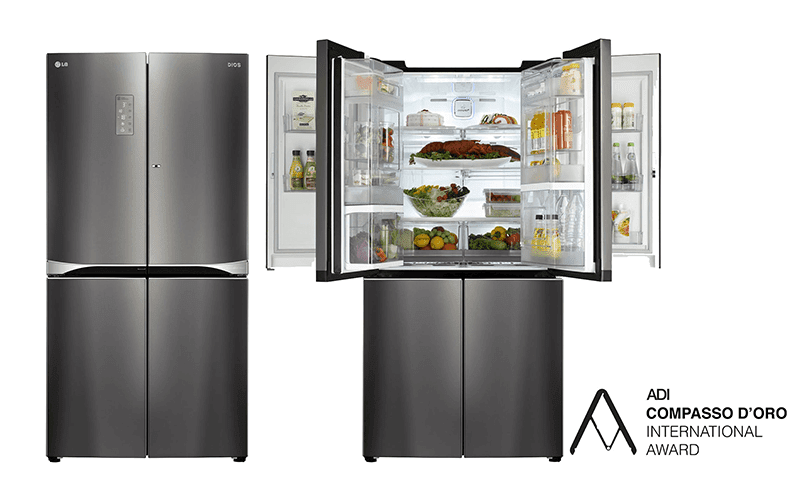 LG Wins Design Awara For Dual Door In Door Refigerator! (Press Release)