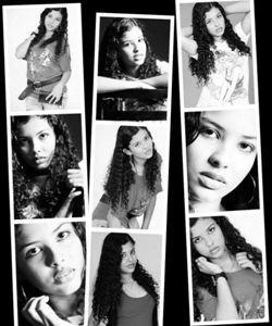 Colagem de fotos para 9 imagens em preto e branco
