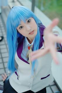 Nagisa cosplayed as Angel Beat's Kanade Tachibana