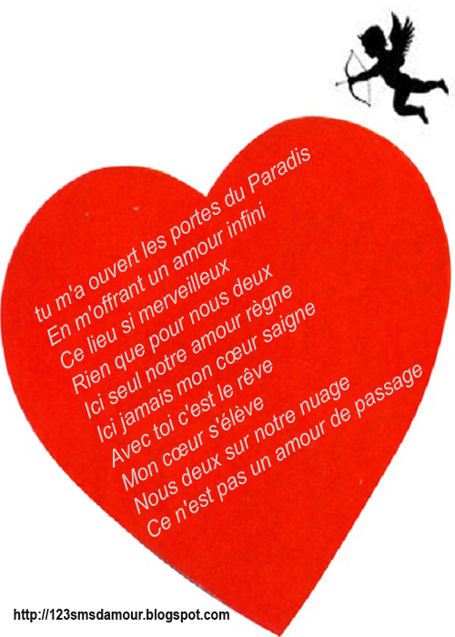 Extrêmement Poème sms d'amour | Amourissima - Mots d'amour -SMS d'amour LE97