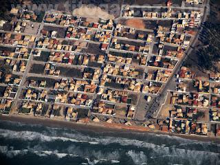 Vista aérea da praia da Caueira, no município de Itaporanga d'Ajuda, em Sergipe