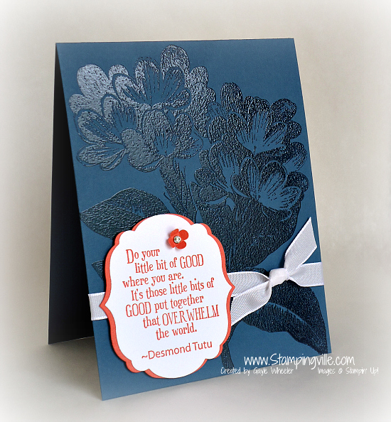 Stampin' Up! Pursuit of Happiness stamp set card idea