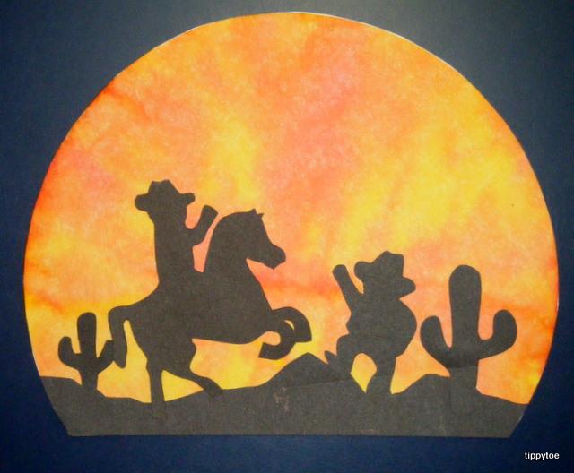 tippytoe crafts desert sunsets
