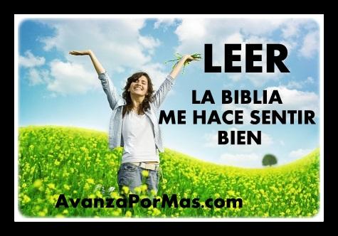 LEER LA BIBLIA ME HACE SENTIR BIEN