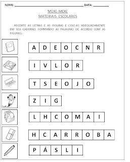 Atividades para Alfabetização - Mexe-Mexe 4