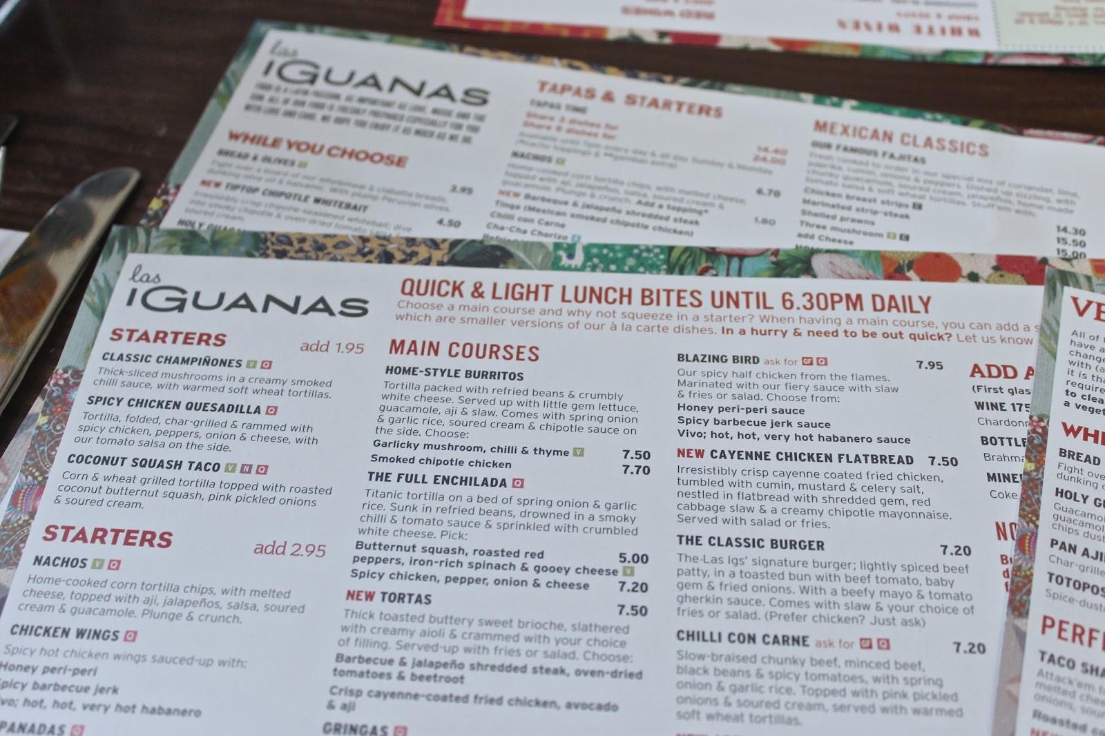 Las Iguanas Restaurant Review - Bump to Baby & Beyond Blog - UK ...