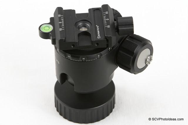 SCV-FK Flip-Kit on Sunwayfoto XB-44 Ball Head