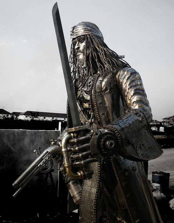 Amazing metal art sculptures extremely weird stuff