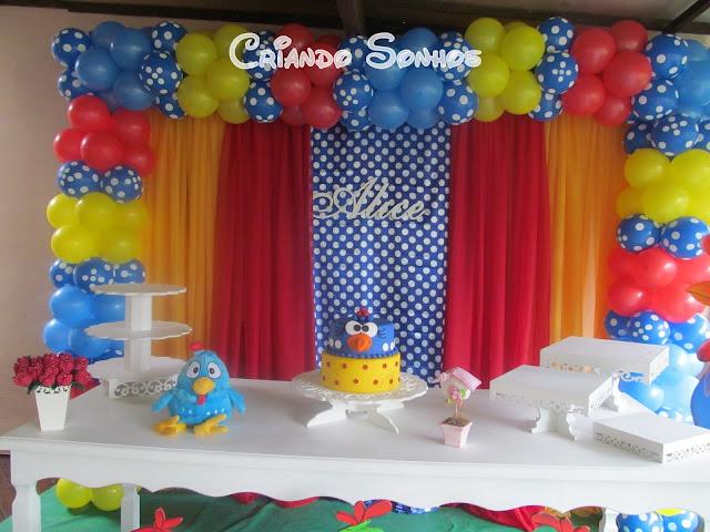 Criando Sonhos Decoraç u00e3o Galinha Pintadinha