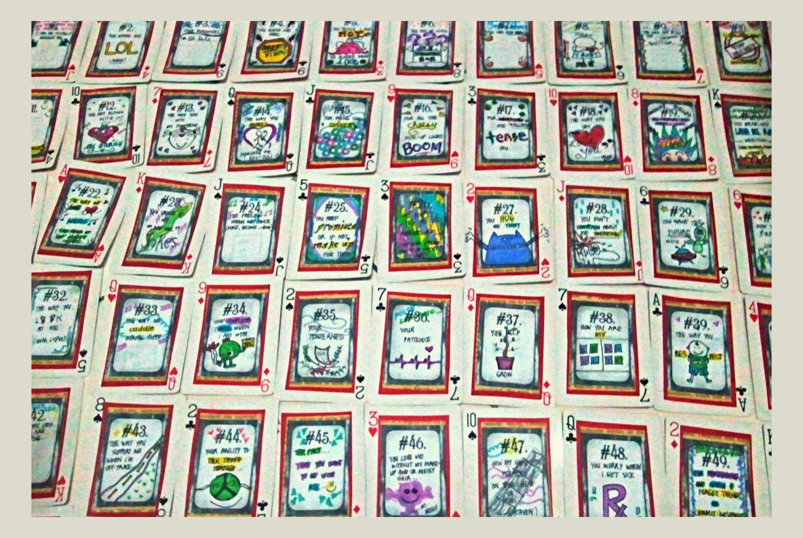 52 reasons i love you template free download - craft project 52 reasons i love you cards the artsy