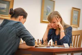 Echecs : Alexandra Kosteniuk 0-1 Olga Girya - Tashkent 2013 - Photos © Maria Emelianova