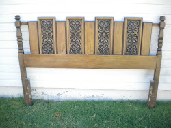 retro 60's headboard...SOLD