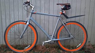 trek district singlespeed bicycle orange awesome