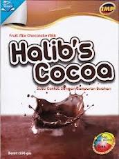 Halib's cocoa - dicampur buah tin, goji, gingko biloba, manna dan delima