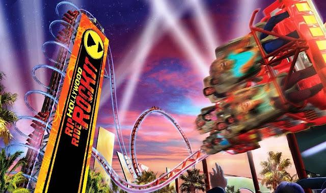 Universal Studios Rockit RollerCoaster