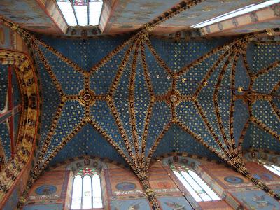 Ceiling of Marian Basilica, Krakow, Poland, by Maja Trochimczyk