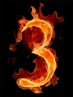 fire letters 09 mobile wallpapers download free