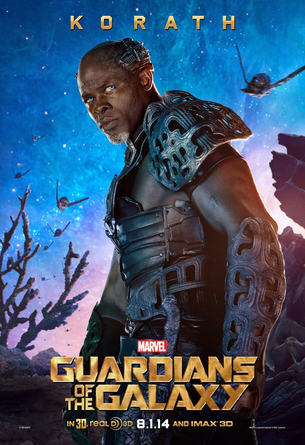 "Guardians of the Galaxy ""Villains"" Character Movie Poster Set - Djimon Hounsou as Korath"